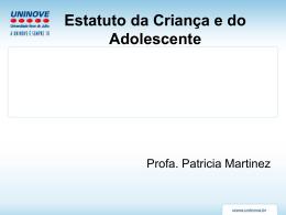 Medidas de Proteção - Professora Patricia Martinez