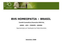 Informe da BVS Homeopatia