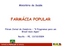 """Rede """"Farmácia Popular do Brasil"""""""