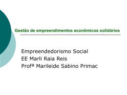Gestão de empreendimentos econômicos solidários