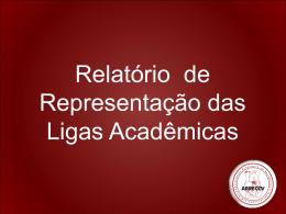 Relatório das Ligas Acadêmicas
