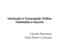 Introdução à Computação Gráfica