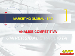 marketing global - ead análise competitiva