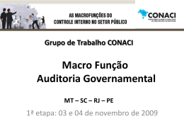 Grupo de (...) - Função Auditoria Governamental Tipo do
