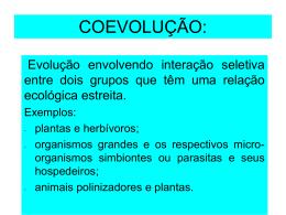 COEVOLUÇÃO: - Projeto SEEDUC