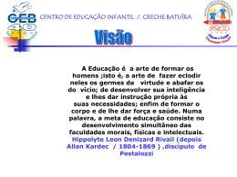 Visão de Educação