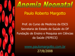 Anemia neonatal (Apresentação)