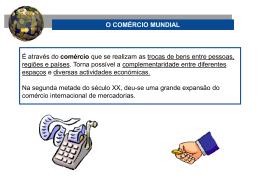 O COMÉRCIO MUNDIAL