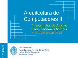 Processadores Modernos - Universidade de Coimbra