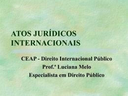 ATOS JURÍDICOS INTERNACIONAIS CEAP