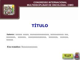congresso internacional multidisciplinar de oncologia - cimo