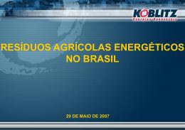 Resíduos Agrícolas Energéticos no Brasil
