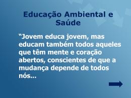 EDUCAÇÃO AMBIENTAL E SAÚDE