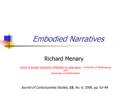 Embodied Narratives
