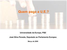 Quem paga a UE?