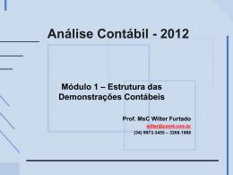 Análise - Módulo 1 - Estrutura das Demonstrações - 2012