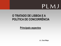 o tratado de lisboa e a política de concorrência