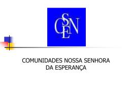COMUNIDADES NOSSA SENHORA DA ESPERANÇA Experiência