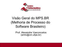 MPS.BR - Centro de Informática da UFPE