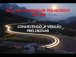 guia do supervisor pedagógico – sp/see-mg