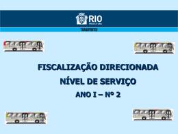 Nível de Serviço - Prefeitura do Rio de Janeiro