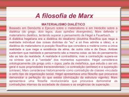 A filosofia de Marx.