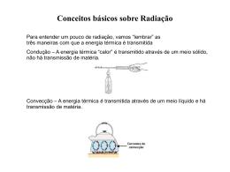 Conceitos básicos sobre Radiação