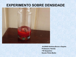 EXPERIMENTO SOBRE DENSIDADE