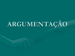 Clique aqui para descarregar o material sobre argumentação!