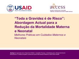 Abordagem Actual para a Redução da Mortalidade Materna