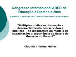 Congresso CONSAD de Gestão Pública Brasília – DF, 26 a