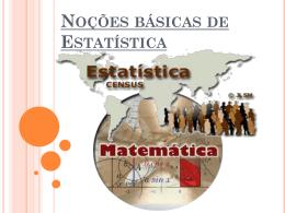 Noções básicas de Estatística