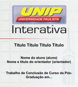 Breve Histórico - videoaula.sepi.unip.br