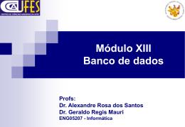 Módulo XIII Banco de dados