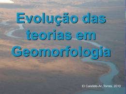 Aula 2 – Evolução das teorias em Geomorfologia