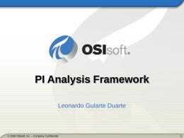O que é PI Analysis Framework?