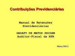 5 - contribuies previdencirias - Controladoria Geral do Estado do