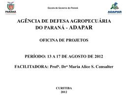 administração por projeto - Adapar