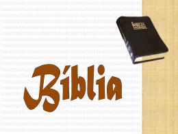 A Bíblia - Material de Catequese