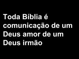 Toda Biblia é Comunicação