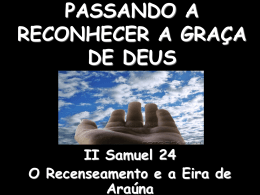 passando a reconhecer a graça de deus – ii samuel 24