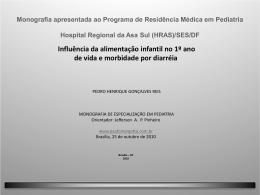 Monografia-2010(HRAS):Influência da alimentação infantil no 1º
