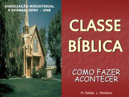 CLASSE BÍBLICA - Bem vindo a www.neemias.info