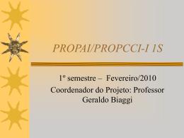 PROPAI-2º SEMESTRE-2007