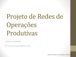 Projeto de Redes de Operações Produtivas