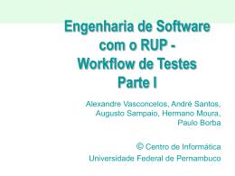 Testes 1 - Centro de Informática da UFPE
