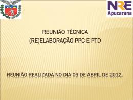 (re)elaboração ppc e ptd