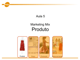 Marketing mix: Produto
