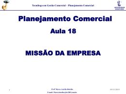 Missão da Empresa - Marco Botelho