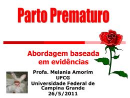 Parto Prematuro-Abordagem baseada em